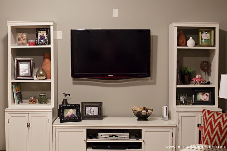 Excellent Love The Tv Into The Mantle And The Bookcases On Either Sideplus