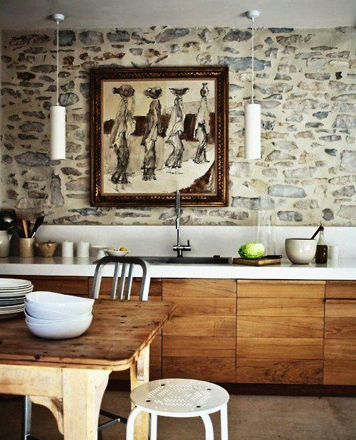 Brick Stone Wood And Concrete 15 Beautiful Rustic Kitchens