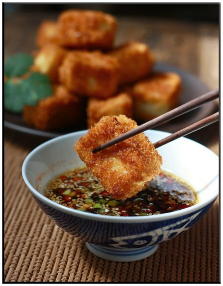 ... sesame asparagus and dipping sauce cold tofu salad with soy ginger