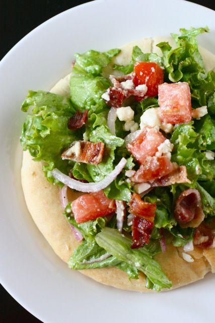 BLT Pizza w/ a Maple Bacon Vinaigrette | Food glorious food | Pintere ...