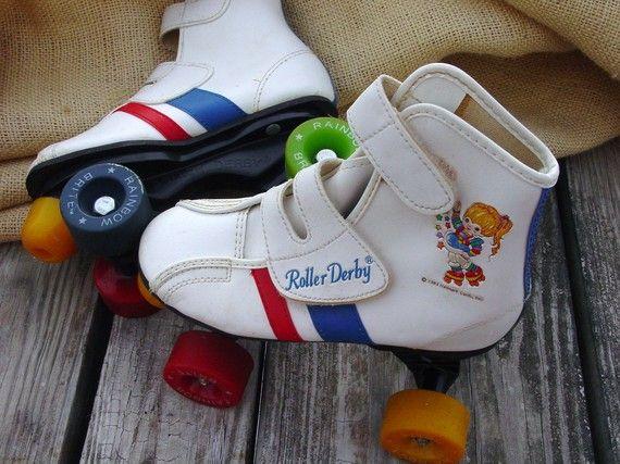 1983 Rainbow Brite roller skates