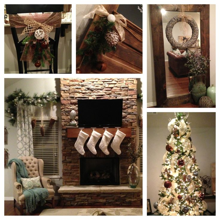 Neutral christmas decor my diy pinterest for Pinterest christmas decorations