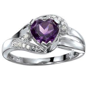 Purple diamond wedding band
