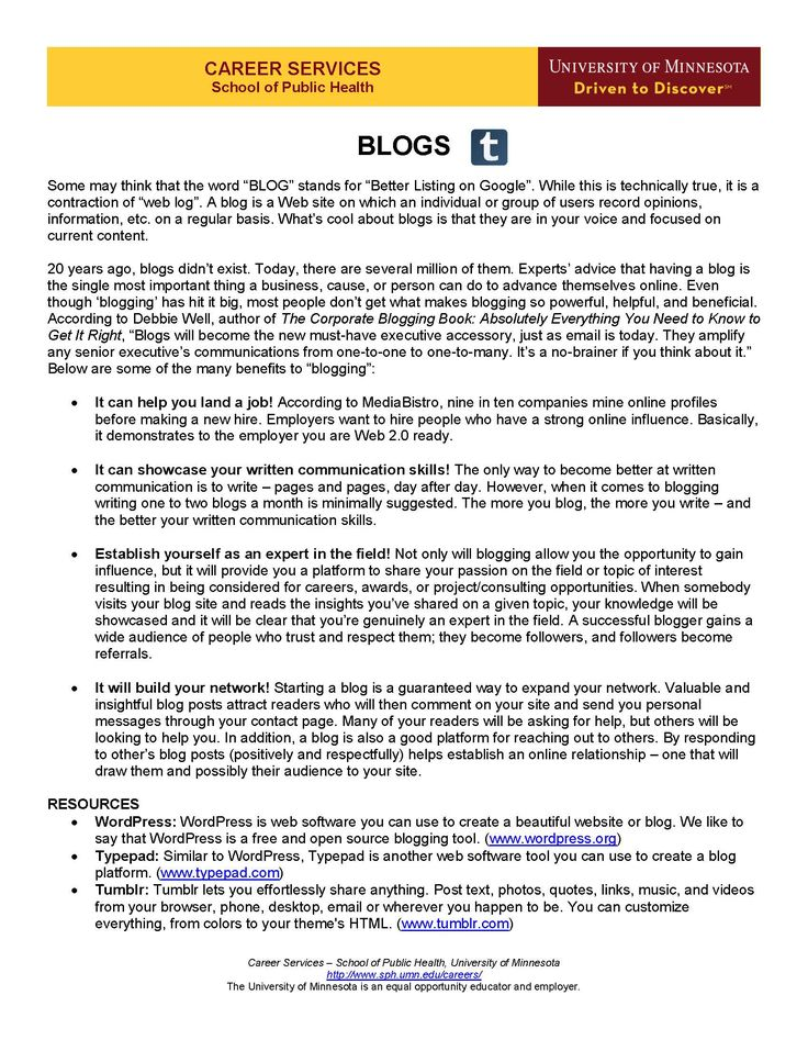 journalists guide blogging