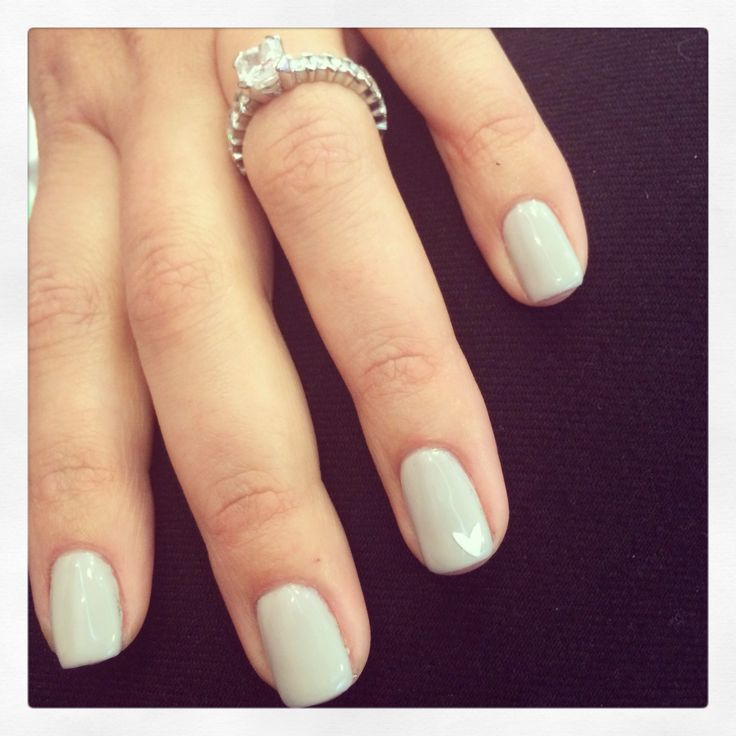 Light grey shellac overlay | Shellac Nails | Pinterest