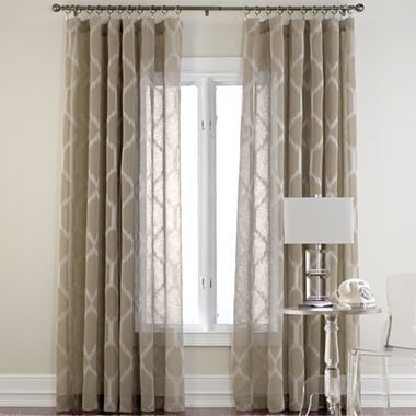 Kya rod pocket sheer panel jcpenney curtains pinterest for Jcpenney living room curtains