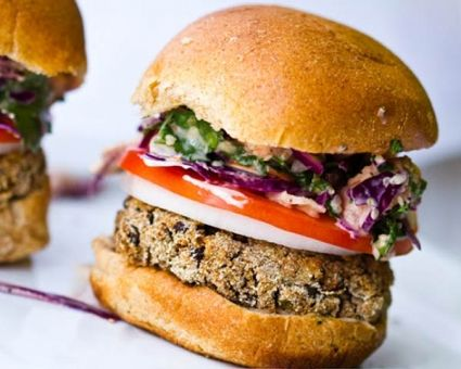 Sweet Potato Black Bean Burgers Recipe | The Daily Meal