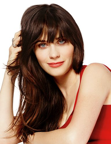 Zooey Deschanel Hair Layers Pin by InStyle Magazin...