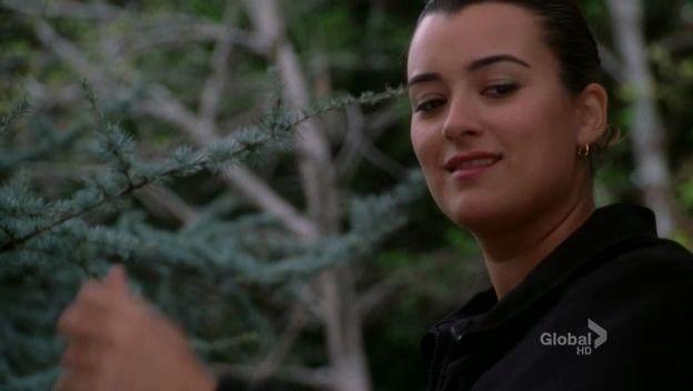 """Ziva?"""" Ziva: """"Up here"""" haha She's in a tree. I love how Tony and whats"""