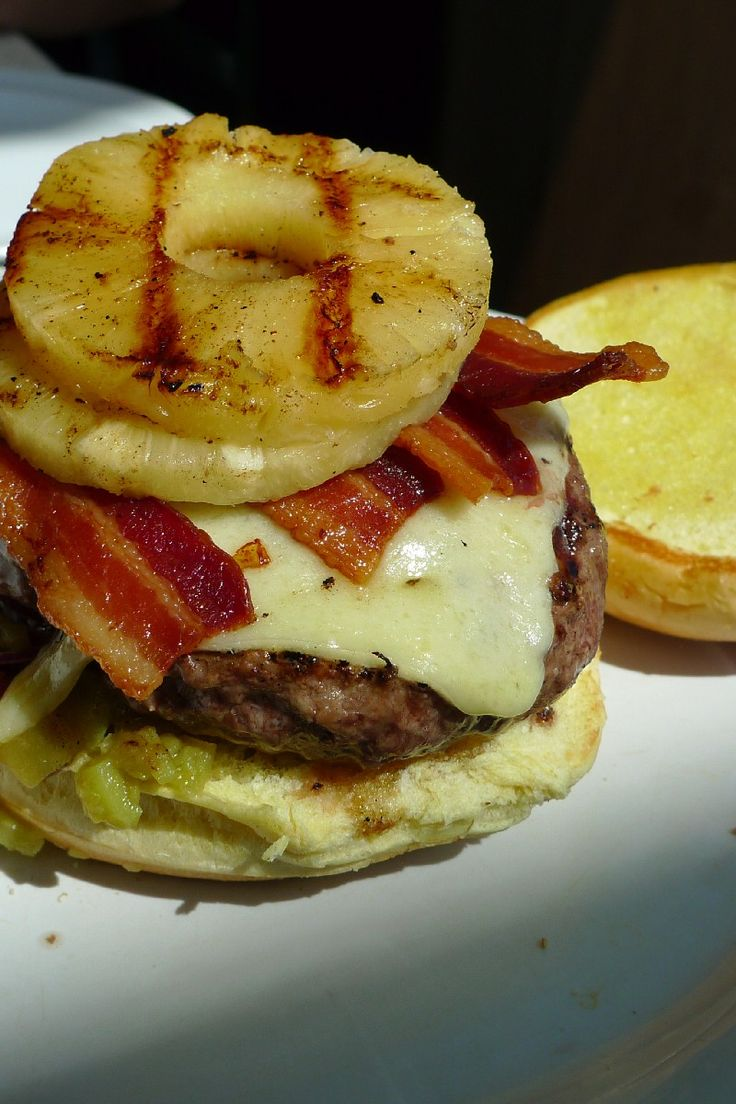 Pineapple Bacon Burgers #Recipe | Yummy | Pinterest