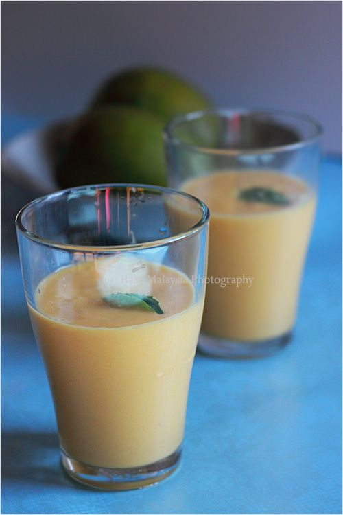 Mango Lassi - An Indian drink that consists of yogurt, milk and mango