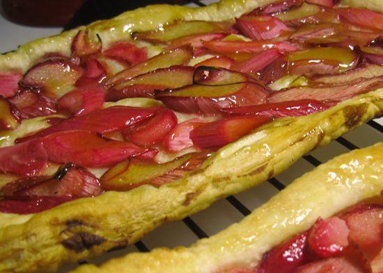 Rhubarb tart with Orange glaze | Yummy | Pinterest