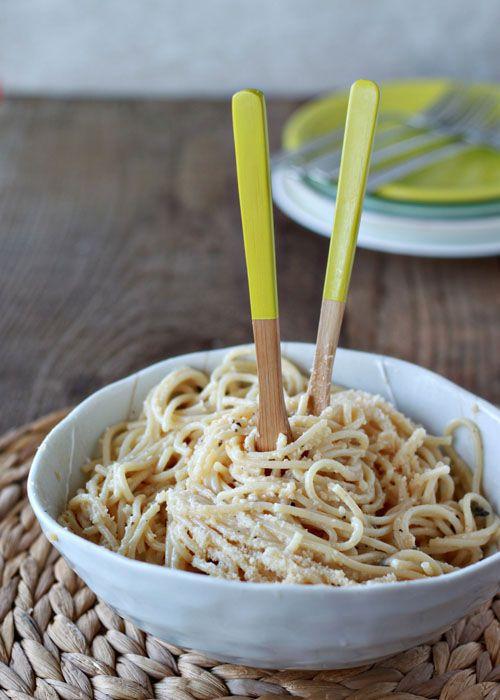 Brown Butter Parmesan Spaghetti | Kitchen Treaty