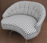 Gray houndstooth just ordered to reupholster my chairs