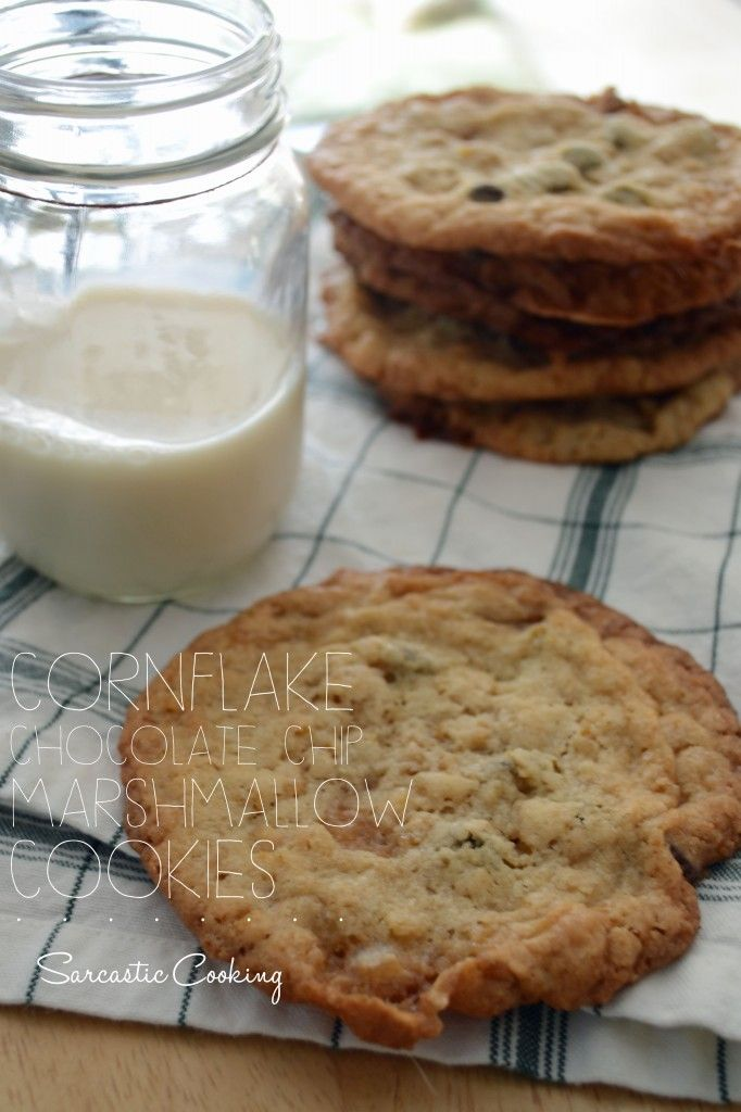 Cornflake Chocolate Chip Marshmallow Cookies - Sarcastic Cooking