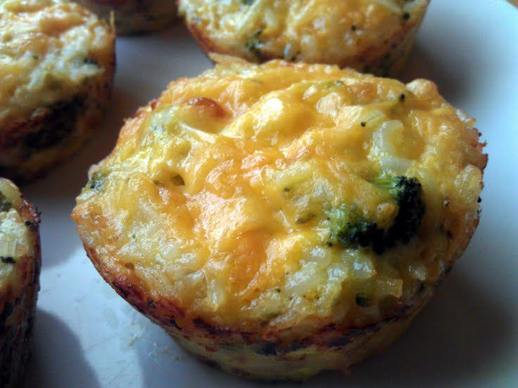 Broccoli & Cheese Rice Cups | Food and Drink | Pinterest