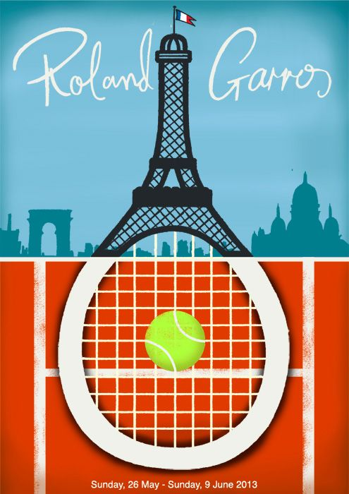 Paul Thurlby Illustration / Roland Garros Poster