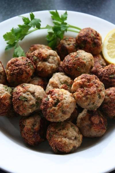 pork and lemon meatballs