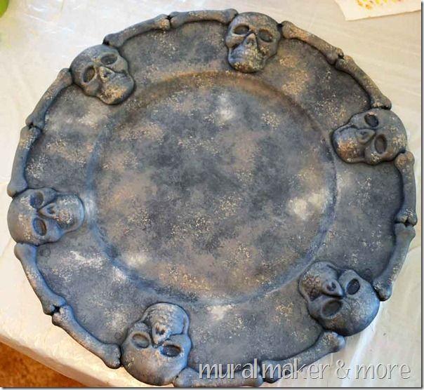 Diy faux stone dollar platter diy pinterest