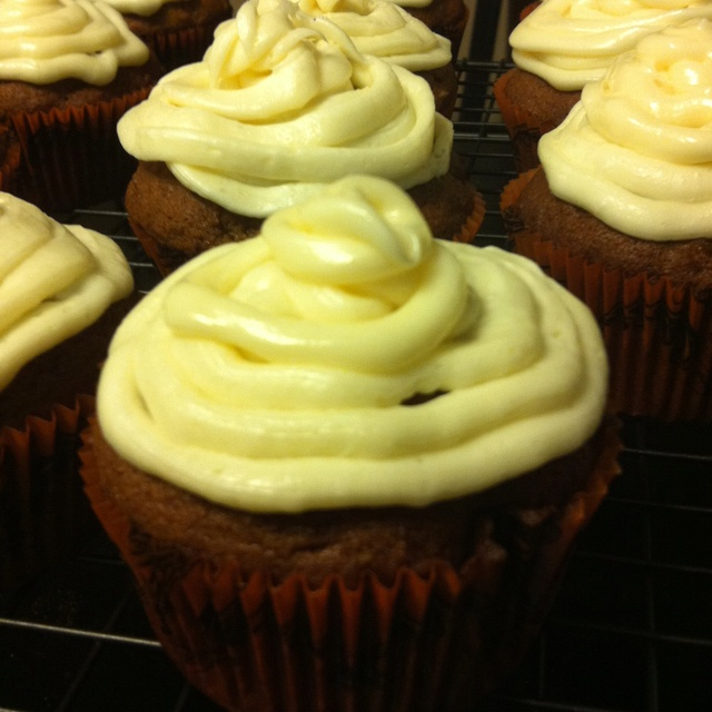 Pumpkin Ginger Cupcakes with Cream Cheese frosting Recipe from ...