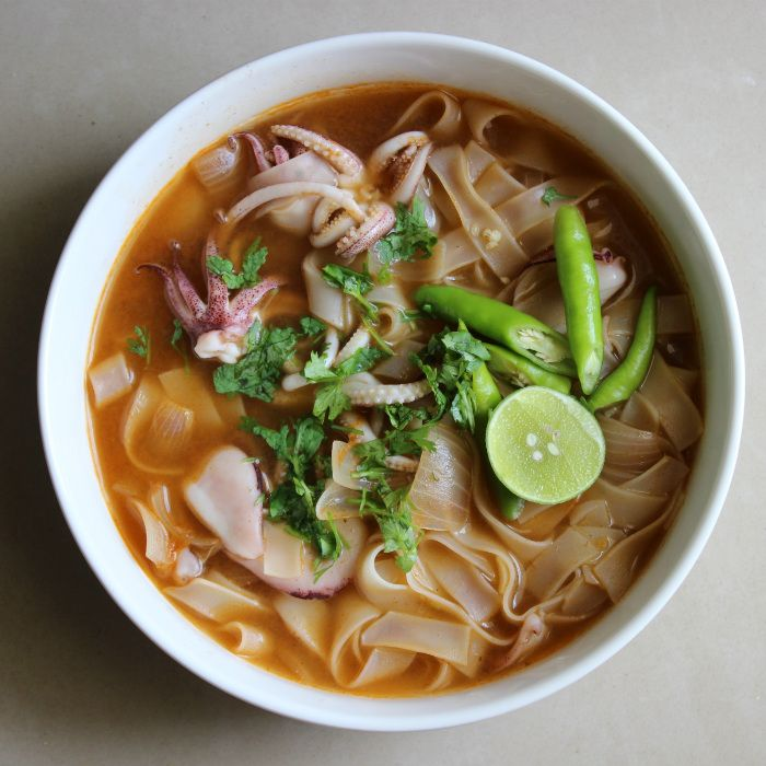 Tom Yum Noodle with Calamari in 15 minutes