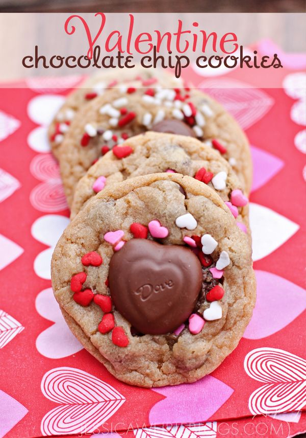 "Valentine Chocolate Chip Cookies | ""CrAfTy 2 ThE CoRe~DIY GaLoRe"" 