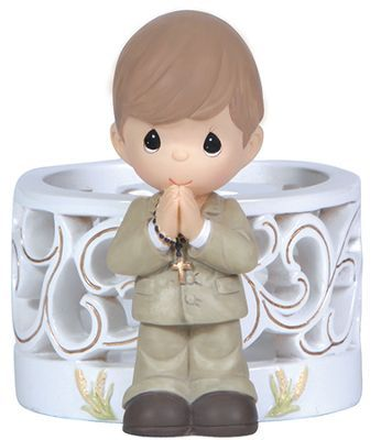... Moments, Blessings On Your First Holy Communion LED Figurine, Boy