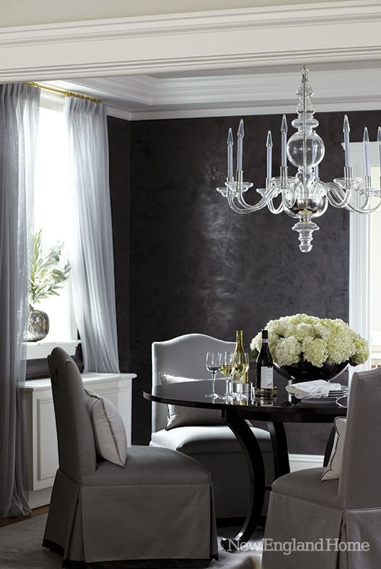 ♅ Dove Gray Home Decor ♅  elegant dining in gray