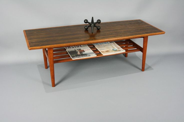 Mid century coffee side table magazine rack retro vintage for Coffee tables ebay australia