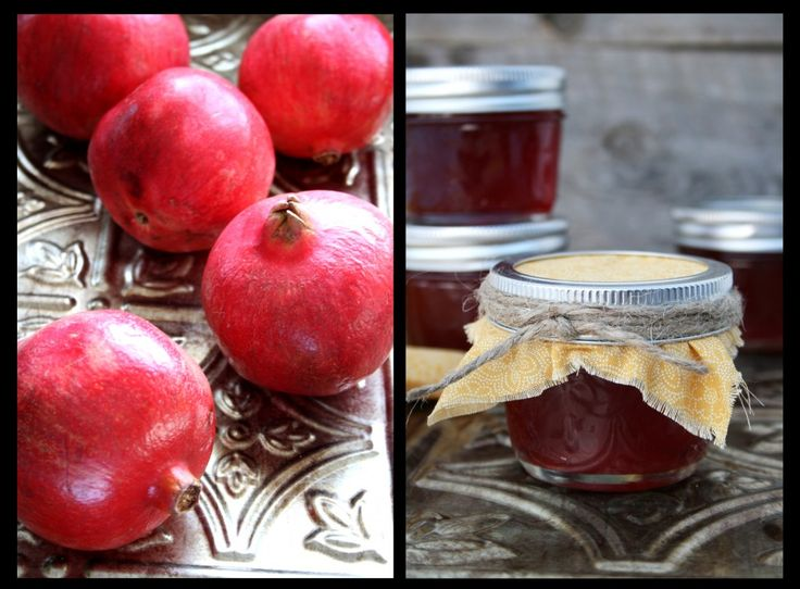 Pomegranate Jelly (will buy the juice and cut sugar back to 4 1/2 cups ...