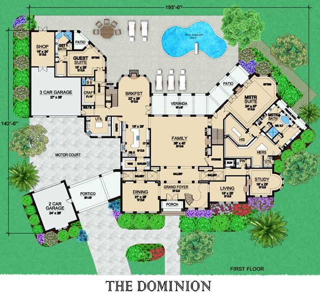 Dominion Floor Plans 17 000sf 1st Floor Future Home Life
