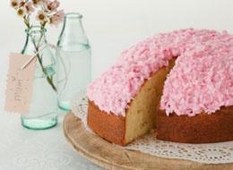 Pink Coconut cake. | Cakes | Pinterest