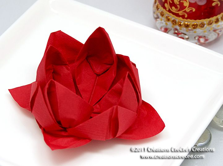 Lotus Serviette Folding : the napkin ideas  Wedding Love  Pinterest