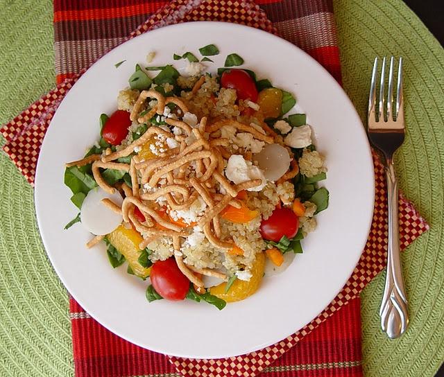 Quinoa Mandarin and Feta Salad -- the dressing sounds delish but I ...