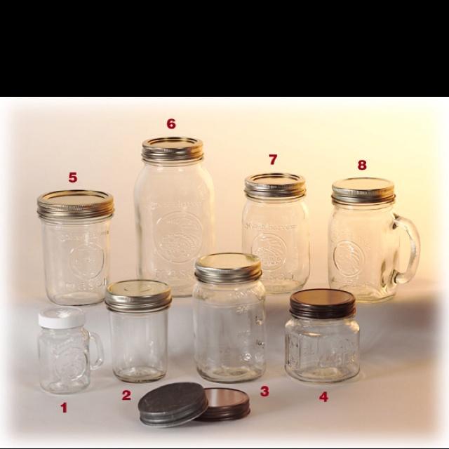 all sizes of mason jars l love mason jars pinterest. Black Bedroom Furniture Sets. Home Design Ideas