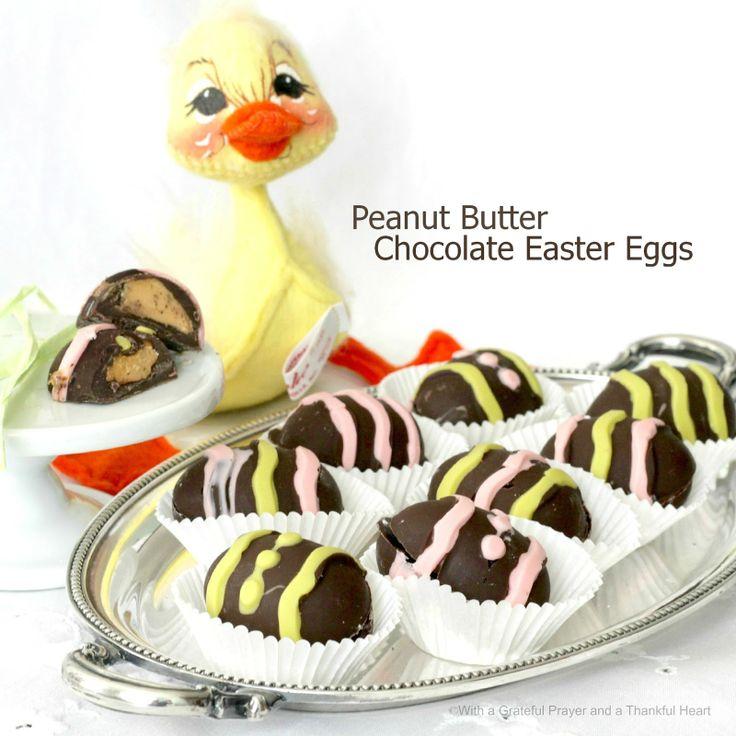 ... Grateful Prayer and a Thankful Heart: Chocolate Peanut Butter Eggs