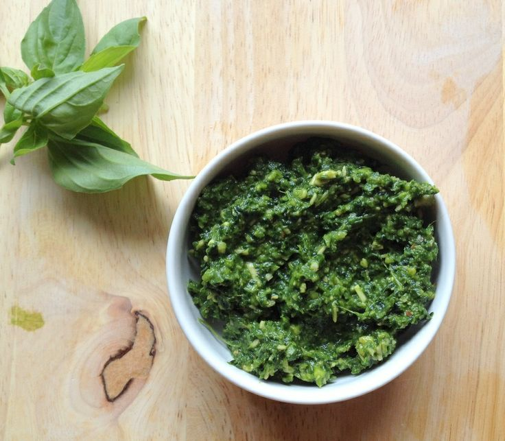 Skinny Kale Basil Pesto | Gravies & Sauces | Pinterest
