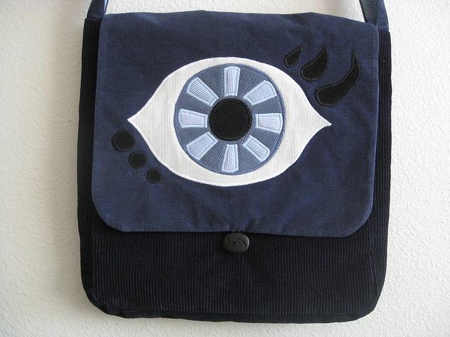 Blue evil eye bag | more Boho Rain bags | Pinterest