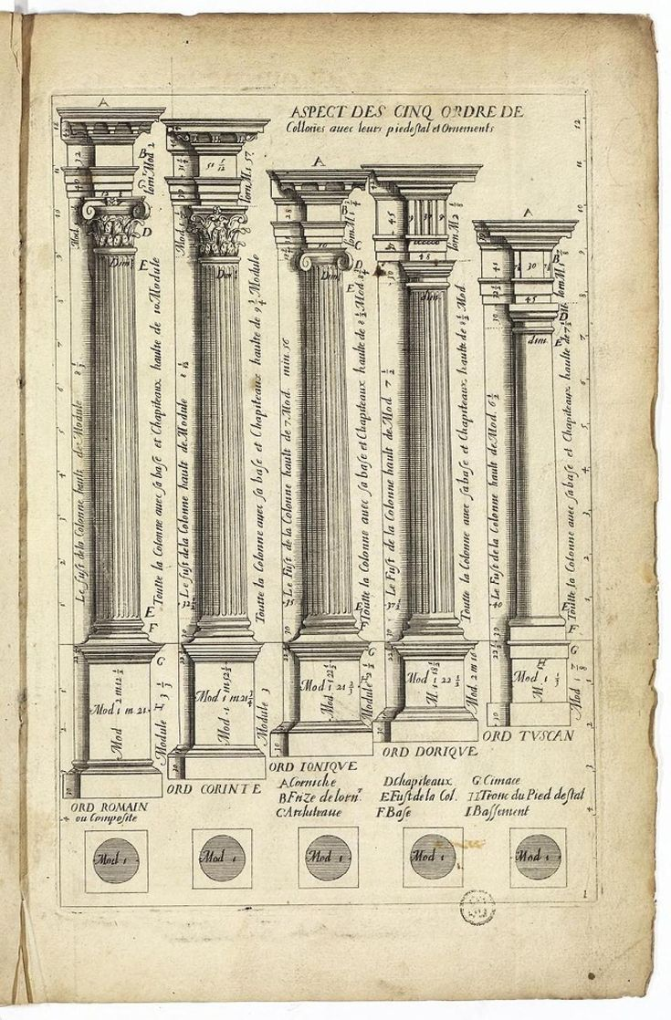 the five orders of architecture classical pinterest