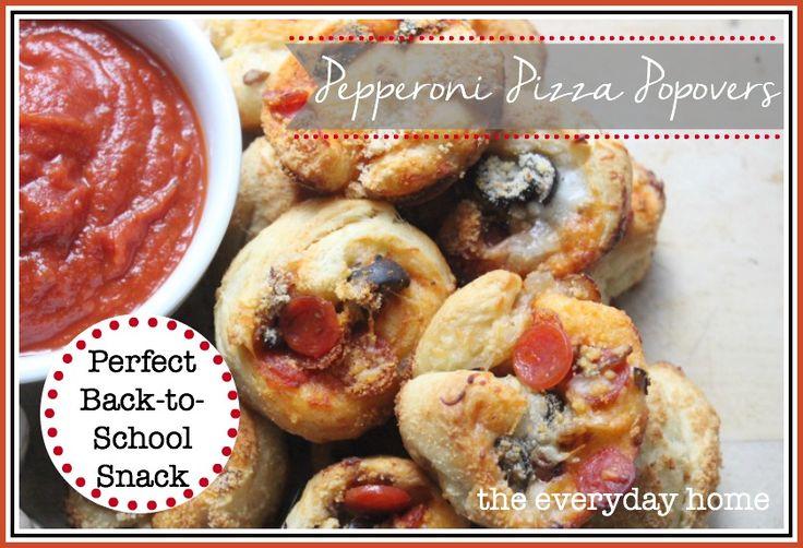 Pepperoni Pizza Popovers | Recipe
