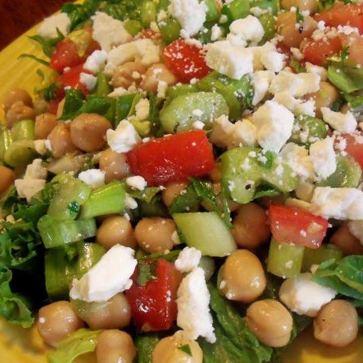 15 Minute Greek Garbanzo Bean Salad | Veggies 2 | Pinterest
