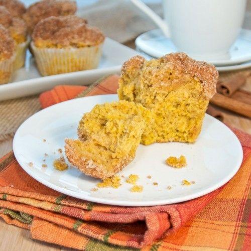 Pumpkin Doughnut Muffins {Sweet Pea's Kitchen}