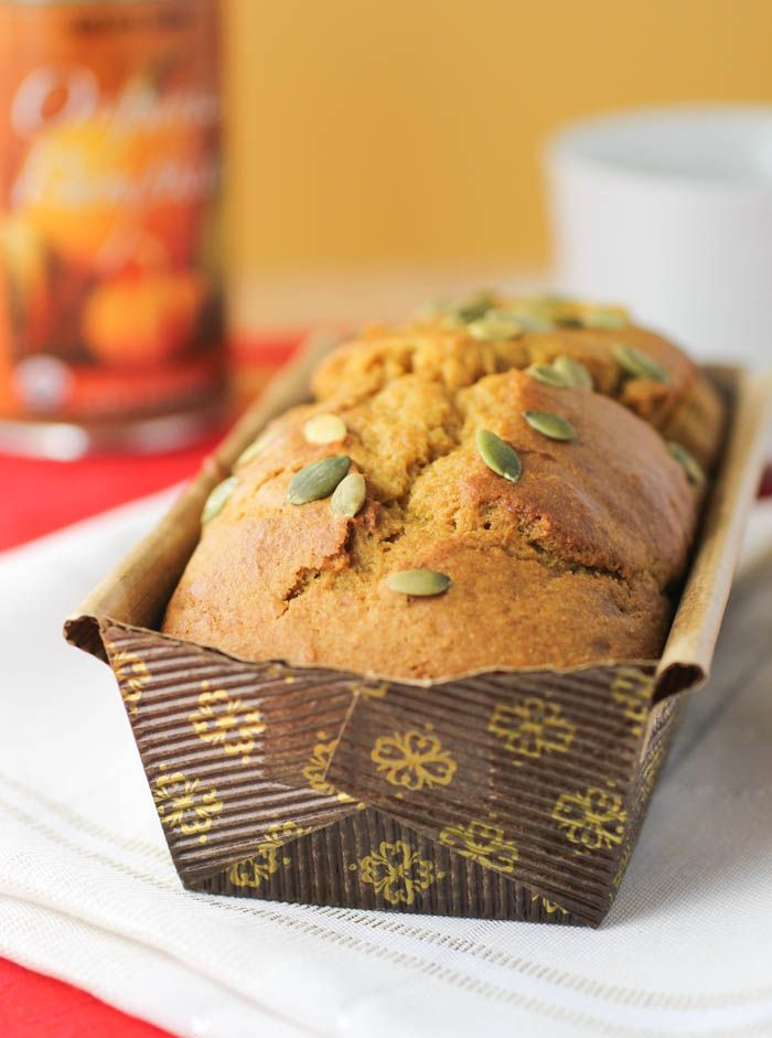 Olive oil pumpkin bread - perfect for halloween! #yum #delicious