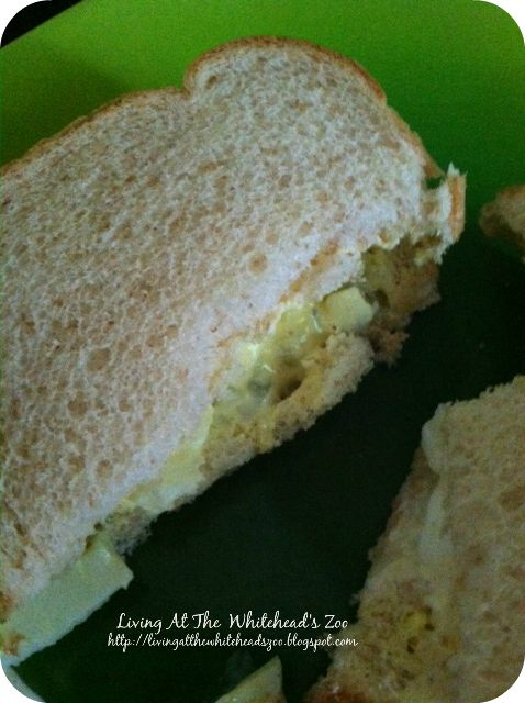 Easy Egg Salad Sandwiches | Living At The Whitehead's Zoo | Pinterest