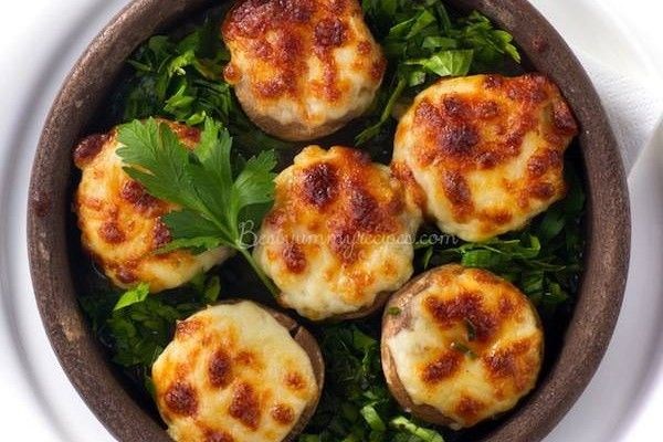 Crab-Stuffed Mushrooms | APPETIZERS | Pinterest