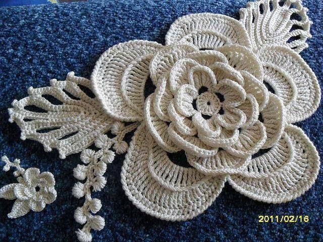 Flor de croche FLORES Pinterest