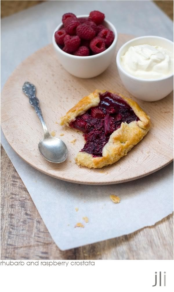 rhubarb and raspberry crostata | recipes | Pinterest