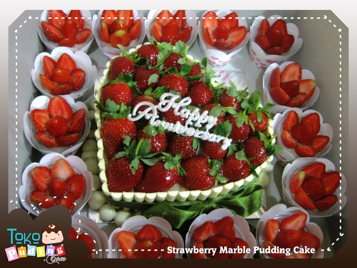strawberry marble pudding cake   D'licious Pudding   Pinterest