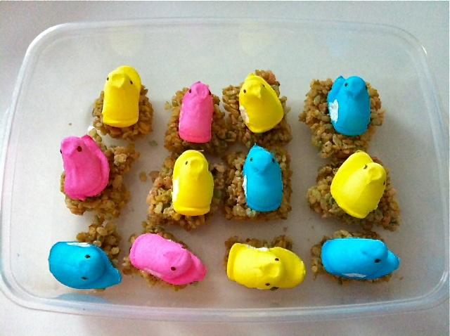 Peeps krispy treats   Masterpiece Kitchen   Pinterest