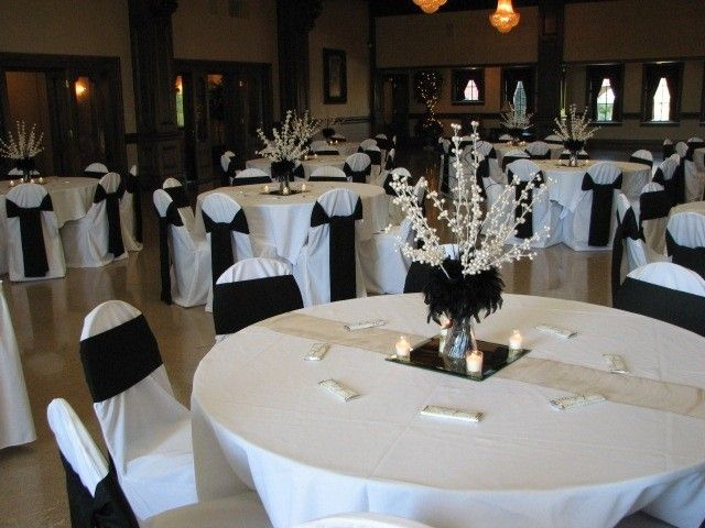 Black and white centerpiece ideas future wedding